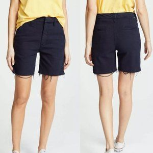 NWT Mother The Bermuda Prep Snippet Fray Shorts